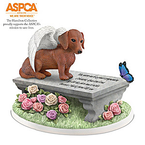 Dachshunds Leave Paw Prints On Our Hearts Memorial Figurine