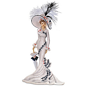 """Afternoon At Ascot"" Victorian Lady Figurine"