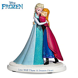 Disney Elsa And Anna Love Will Thaw A Frozen Heart Figurine