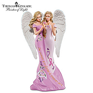 Thomas Kinkade Breast Cancer Awareness Sister Angel Figurine