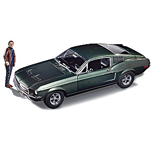 1:18-Scale Bullitt Diecast Replica With Steve McQueen Figure
