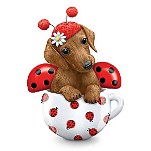 "Kayomi Harai ""Cute As A Bug"" Dachshund Figurine"