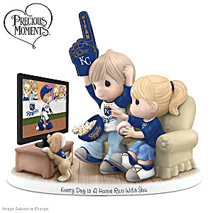 Precious Moments Kansas City Royals Fan Porcelain Figurine
