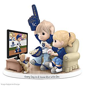 Precious Moments Kansas City Royals Fan Porcelain Figurine