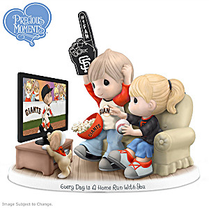 Precious Moments San Francisco Giants Fan Porcelain Figurine