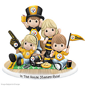 Precious Moments In This House, Steelers Rule Fan Figurine