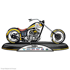 Pittsburgh Steelers Super Bowl Champions Chopper Sculpture