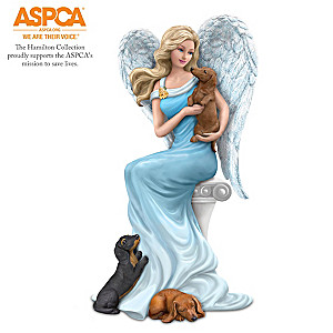 """Dachshunds Give Paw-fect Heavenly Support"" Angel Figurine"