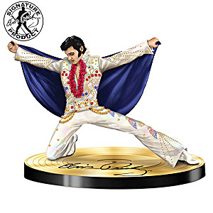 """Sparkling Salute To The King"" Elvis Presley Figurine"
