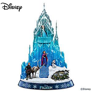 """Disney FROZEN Ice Palace of Elsa Sculpture Plays """"Let It Go"""""""