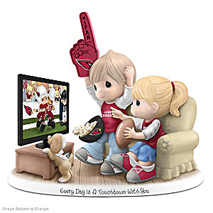 Precious Moments Arizona Cardinals Fan Porcelain Figurine