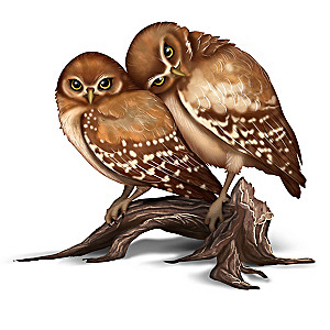 Laura Crawford Williams Nature's Precious Moment Owl Figure