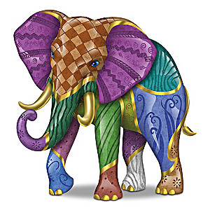 "Keith Mallett ""Triumphant Tapestry"" Elephant Figurine"