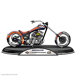 Denver Broncos Super Bowl Champions Chopper Sculpture