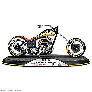 Green Bay Packers Super Bowl Champions Chopper Sculpture