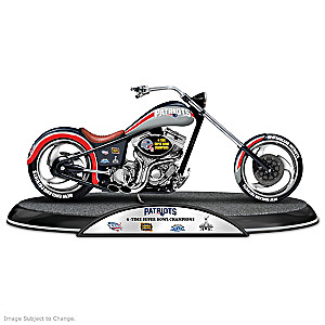 New England Patriots Super Bowl Champions Chopper Sculpture