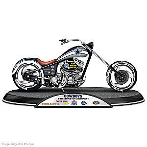 Dallas Cowboys Super Bowl Champions Chopper Sculpture