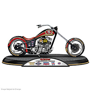 San Francisco 49ers Super Bowl Champions Chopper Sculpture