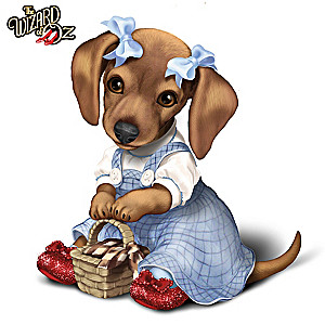 "THE WIZARD OF OZ ""DOROTHY"" Dachshund Figurine"