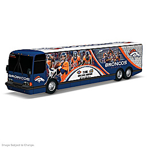 Denver Broncos Tour Bus Sculpture With Player Graphics