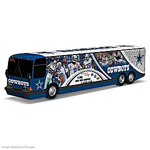 Dallas Cowboys Tour Bus Sculpture With Player Graphics