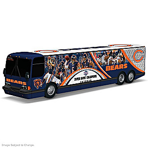 Chicago Bears Tour Bus Sculpture With Player Graphics