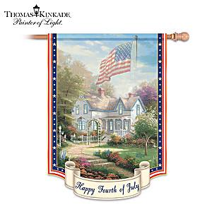 "Thomas Kinkade ""Happy Fourth Of July"" Flag"