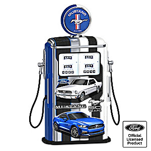 """Fueled For Speed"" Ford Mustang Lighted Gas Pump"