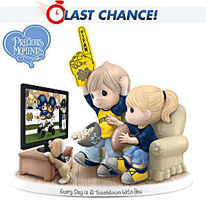 Precious Moments Notre Dame Fighting Irish Fans Figurine