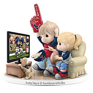 Precious Moments Houston Texans Fan Porcelain Figurine