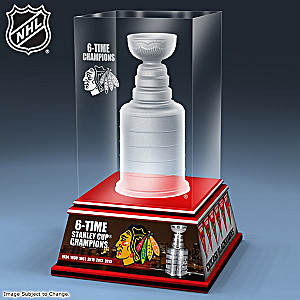 Blackhawks® Stanley Cup® Laser-Etched Sculpture