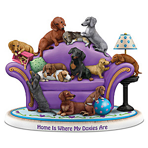 "Blake Jensen ""Home Is Where My Doxies Are"" Figurine"