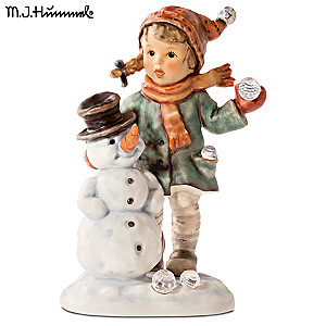 "Authentic M.I. Hummel ""Snow Day"" Porcelain Figurine"