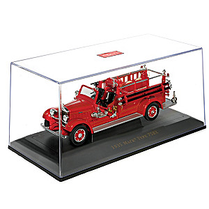 1935 Mack Type 75BX Fire Engine Diecast Truck With Case
