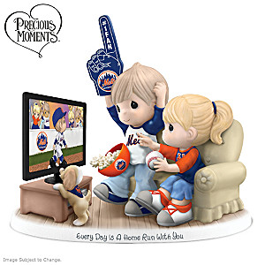 Precious Moments New York Mets Fan Porcelain Figurine