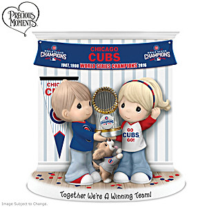 Chicago Cubs World Series Precious Moments Figurine