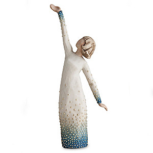 "Susan Lordi Willow Tree ""Shine"" Figurine with Gold Leaf"