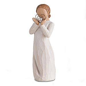 """Susan Lordi Willow Tree """"Lots Of Love"""" Girl Figurine"""
