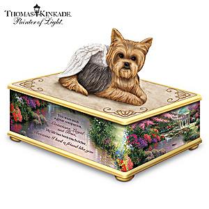 Thomas Kinkade Yorkie Memorial Keepsake Box