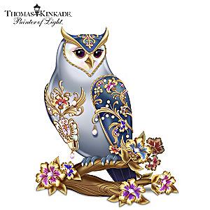 Thomas Kinkade Elegant Treasure Owl Figurine