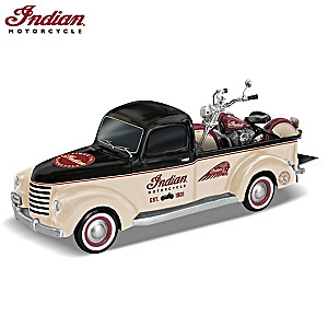 """Classic Cruisers"" Indian Motorcycle And Truck Sculpture"