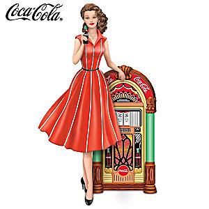"COCA-COLA ""Rocking Good Taste"" Girl and Jukebox Figurine"