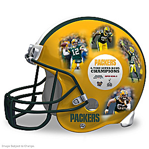 Green Bay Packers Full-Size Collectible Helmet Sculpture
