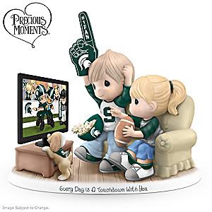 Precious Moments Michigan State Spartans Porcelain Figurine