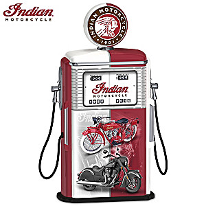 Fueled To Impress Indian Motorcycle Illuminated Gas Pump