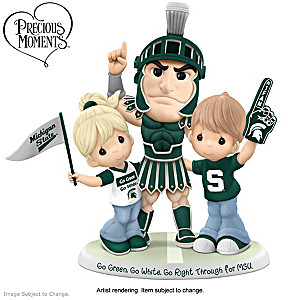 Precious Moments Michigan State Spartans Porcelain Figurine