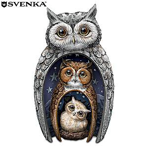 "Blake Jensen ""Eyes Of Wisdom"" Nesting Owls Figurine Set"