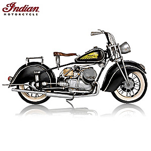 1944 Indian 841 Motorcycle Pressed Metal Replica Sculpture