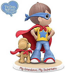 "Precious Moments ""My Grandson, My Super Hero"" Figurine"