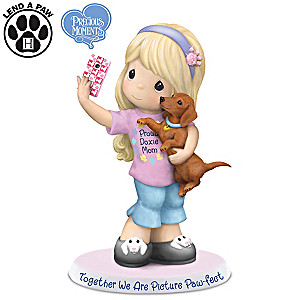 Precious Moments We Are Picture Paw-fect Doxie Mom Figurine